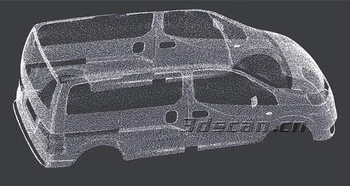 汽车整车逆向设计-三维扫描仪