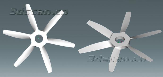 飞机螺旋桨模型三维扫描